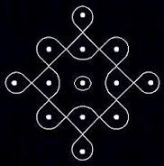 Image result for kolam with 5 dots