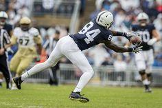 Penn State wide receiver Juwan Johnson hauls in a 33-yard pass during the second quarter at Beaver Stadium on Sept. 2, 2017. The Nittany Lions shut out Akron, 52-0.Joe Hermitt | jhermitt@pennlive.com