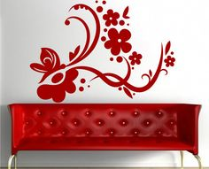 Decorative vinyl is produced in any size, can change color, it is made to order l Plasma Cutter Art, Feminine Home Offices, Wall Drawing, Color Balance, Silhouette Art, Wall Design, Decorating Your Home, Wall Murals, Decoration