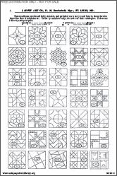 Tons of quilt block ideas. Antique Pattern Library B-HW001 H.M. Brockstedt (ed) - Diagrams of Quilt, Sofa and Pin Cushion Patterns