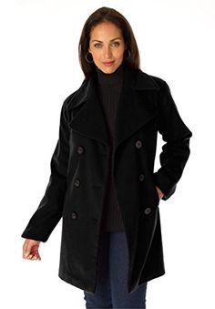 Jessica-London-Womens-Plus-Size-Tall-Classic-Wool-Pea-Coat | Plus