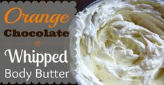Learn how to make this delicious homemade orange chocolate whipped body butter made with coconut oil, cocoa butter and orange essential oil!