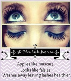 Before and after using Younique 3D Fiber Mascara!