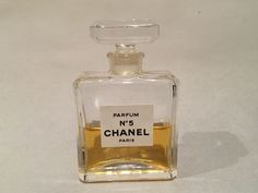 Chanel No 5 Paris Parfum Perfume 1/2 Full 7.5 ml .25 fl oz Crystal Bottle #CHANEL