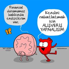 Nick Seluk - The Awkward Yeti - Heart and Brain, srdce a mozek // this is exactly how my mind works! Funny Quotes, Funny Memes, Hilarious, Funny Cartoons, Funny Comics, Heart And Brain Comic, The Awkward Yeti, Akward Yeti, 4 Panel Life