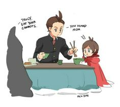 [SPOILERS AHEAD] -AU wherein Thalassa didn't abandon Apollo.Zak Gramarye becomes Apollo's stepfather, thus Apollo and Trucy grows up together in a normal, not sad, family setting. Credits to artist!