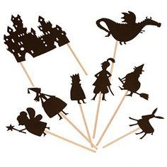 Moulin Roty Castle Theme Shadow Puppets - cool for summertime sleep-overs...or camping!!