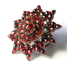 Check out our jewelry selection for the very best in unique or custom, handmade pieces from our shops. Antique Locket, Baubles And Beads, Garnet Pendant, Garnet Jewelry, Vintage Jewelry, Unique Jewelry, Antique Roses, Red Garnet, Austro Hungarian