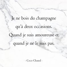 Happy birthday to the great Coco Chanel! Great Quotes, Funny Quotes, Mademoiselle Coco Chanel, Champagne, Coco Chanel Quotes, French Quotes, Positive Mind, Good Vibes Only, Favorite Quotes