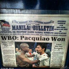 リマッチで更に儲ける出来試合と思うと素直に喜べないな。#pacquiao #boxing #philippines #フィリピン #ボクシング