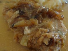 French Onion Pork Chops in the Crock Pot or Slow Cooker