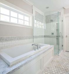 Bathtub nook by glass shower. Bathtub nook by glass shower. Bathtub nook by glass shower and window above tub #Bathtubnook #glassshower Fox Group Construction