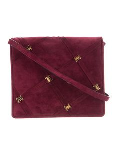 Not much I don't like about this little bag ......the delicious color, the quasi-quilted look, and the metal findings. Classic .... it will never be out of style.   Suede Flap Bag