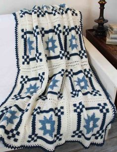 Mother's Fancy Star Quilt Afghan Pattern
