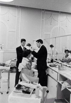 Sax New York City hairdressers impeccably frocked in suits  1960