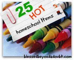 25 HOT Home School Items!