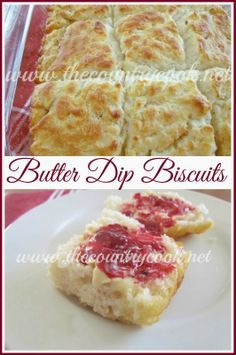 The Country Cook: Butter Dip Biscuits {no rolling, no cutting, the best & easiest biscuits}