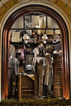 Fall windows at the Ralph Lauren St. Germain store in Paris.