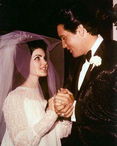 Elvis and Priscilla Presley Wedding Priscilla Presley Wedding, Elvis And Priscilla, Before Wedding, Wedding Day, Wedding Venues, Wedding Vows, Wedding Dresses, Las Vegas Suites, Elvis Wedding