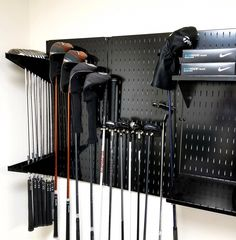 """Outstanding """"golf clubs titleist"""" info is offered on our web pages. Garage Tool Organization, Tool Storage, Diy Storage, Locker Storage, Storage Organizers, Organization Ideas, Organizing, Golf Pro Shop, Metal Pegboard"""