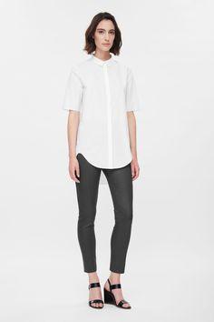 Skinny side-zip trousers