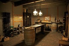 Check out this fabulous rustic wine cellar!