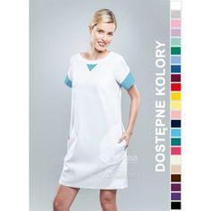 Sukienka Medyczna Hansa 0211 | Odzież damska | Dla lekarzy, farmaceutek i pielęgniarek. | Sklep internetowy Dersa |