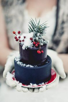 Christmas mini cake.