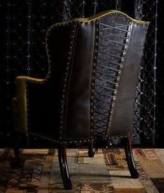 I could so reupholster  a chair using nail heads and creating a corset backing