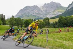 Chris Froome descends during stage 19 at the Tour de France.