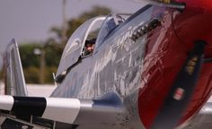 What a Ride! by Wayne Wong on Capture Kern County // Big smile in the passenger compartment after a ride in a P-51D over Meadows Field!  P-51s provided crucial air cover for the B-17s during the daylight bombing missions over Nazi Germany.