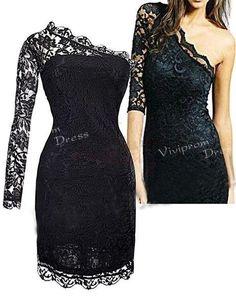 high fashion 2014  prom dressesone shoulder black by vivipromdress, $129.00