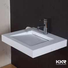 Round Freestanding Solid Surface Above Counter Top Wash Basin
