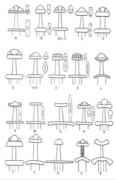 Sword hilt and pommel shapes from migration period weapons