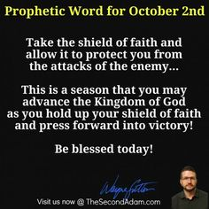 October 2 Daily Prophetic Word of God Online Church, Shield Of Faith, Press Forward, The Kingdom Of God, Word Of God, Words, Horse