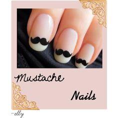 'Stache Nail Art...too cute!