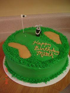Golf ball Golf ball cake and Flag cake on Pinterest