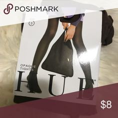 Opague Tights by HUE size 3 NWT Opague Tights by HUE size 3. Color: russet . NWT, never taken out of package. HUE Accessories Hosiery & Socks