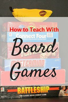 Great tips and ideas for how to Teach with Board Games. Perfect for reward days or end-of-the-year days!