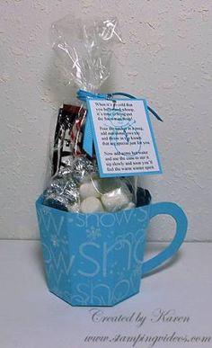 Snowman soup in a mug