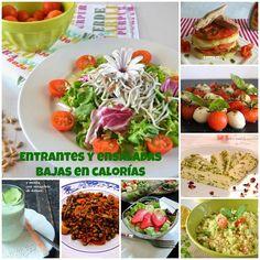 Entrantes y ensaladas para una dieta baja en calorías. ¡Cuídate!