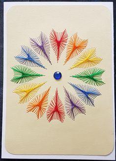 NEU: Regenbogenblume 10 - Motiv: A&N - Format A6