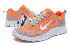 Femmes Nike 6.0 Gratuit Gris Doux Totale Jeu Orange Blanc