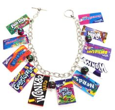 Willy Wonka Charm Bracelet by KarinaMadeThis on Etsy, $17.00