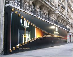 Nespresso store front, very clever #design #inspiration #storefront Check out SI Retail's Promotional Products for store front https://www.sishop.com.au/products-c-11/promotional-signage-c-11_54