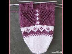 Lace Patterns, Baby Knitting Patterns, Knitting Stitches, Knitting Socks, Free Knitting, Knitted Slippers, Cross Stitch Animals, Fair Isle Knitting, Bead Crochet