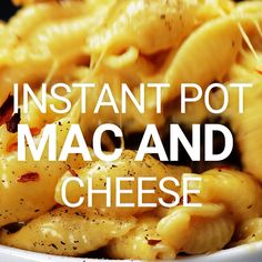 Instant Pot Mac and Cheese - Pasta Recipes - Pasta Instant Pot Mac And Cheese Recipe, Instant Pot Dinner Recipes, Instant Pot Pressure Cooker, Pressure Cooker Recipes, Slow Cooker, Crockpot Recipes, Cooking Recipes, Chicken Recipes, Casserole Recipes