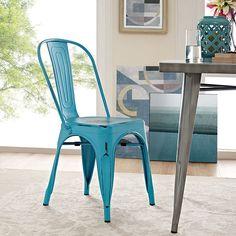 Promenade Side Chair- all metal - Modern Wow