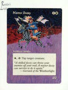 Master Decoy - Full Art - MTG Alter - Revelen's Light Altered Art Magic Card