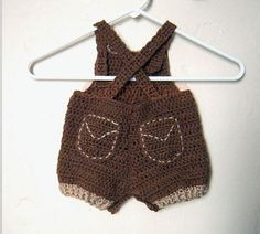 Ravelry: Baby Pony Overall Shorties, Buttons at Legs for Easy Change by Cathy Ren